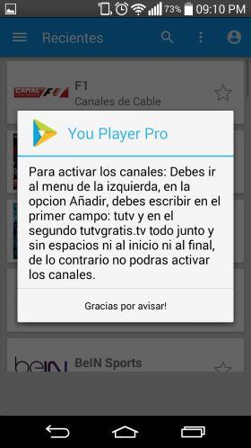 activar canales youplayerpro